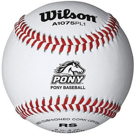 Wilson Pony League Raised Seam Baseball, 12pk