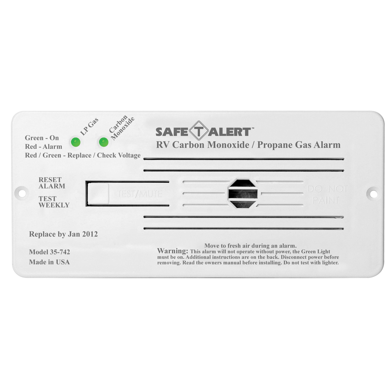 MTI Industries 12V 35 Series Safe-T-Alert Flush Mount RV Dual Carbon Monoxide/Propane Alarm