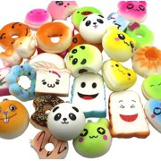 20 Random Kawaii Squishies Soft Slow Rising Cute Japanese Fruit Bread Dessert Animals Kitchen Squishy Toys Charms For Adults And Kids