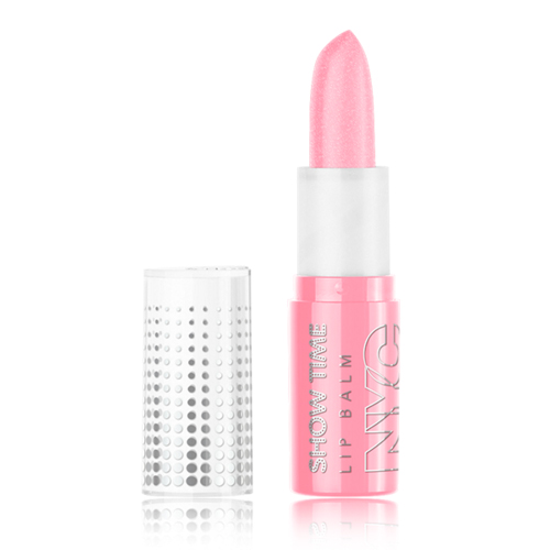 (6 Pack) NYC Show Time Lip Balm - Popular Pink Studio Gear Facial Cleansing Cream (Normal/Dry Skin) 224Ml/8Oz