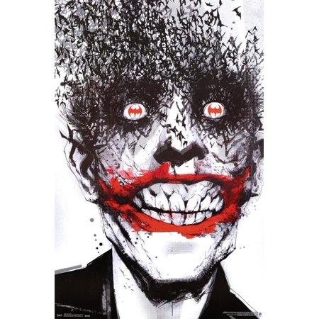 Joker Bats 24x36 Poster Art Print Batman Arkham Origins, High Quality Poster Print By Merchandise - Quality Merchandise