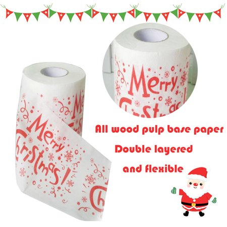 Christmas Printing Paper Toilet Tissues Novelty Roll Paper for Christmas Decoration - image 2 of 7