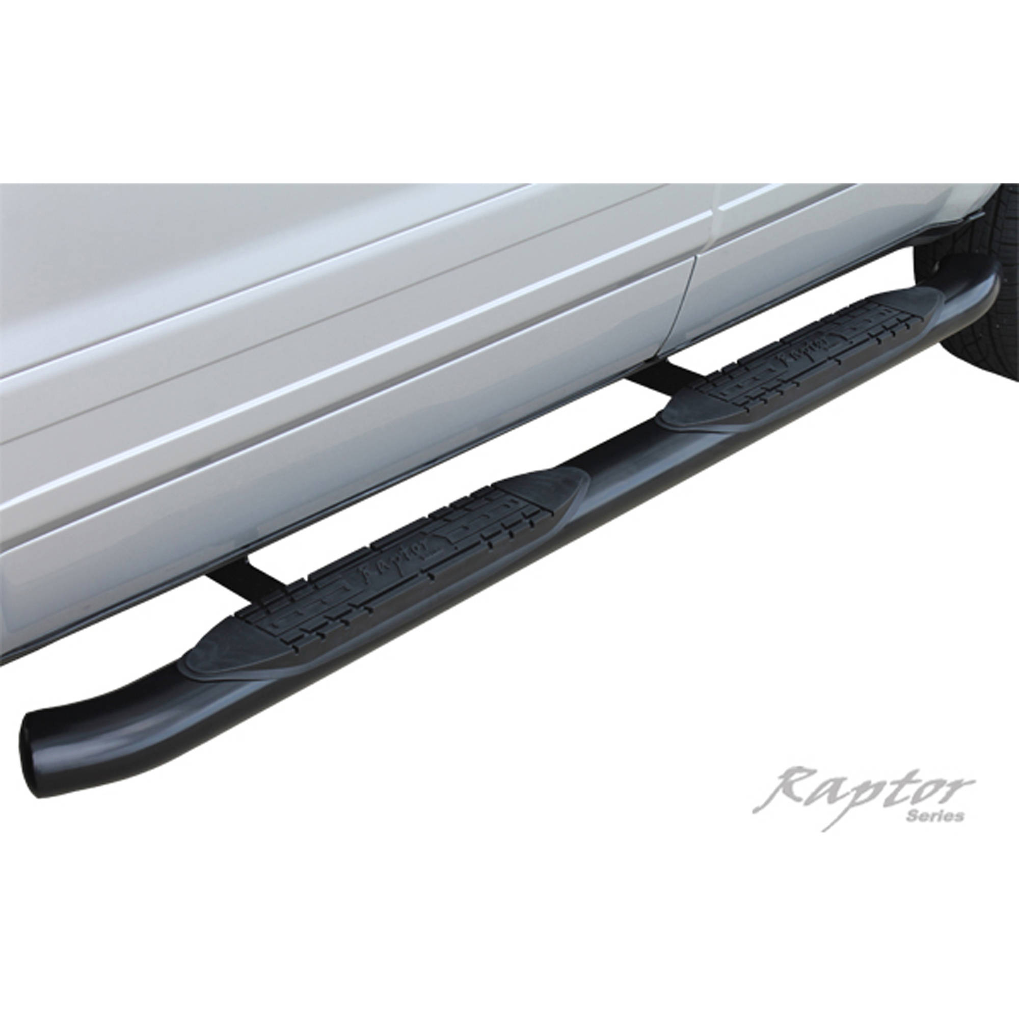 """Raptor Series 04-15 Nissan Titan Extended Cab/King Cab 4"""" OE Style Curved Black Oval Steps"""