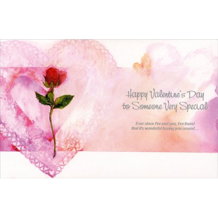 Freedom Greetings Long Stem Rose: Special Someone Valentine's Day Card