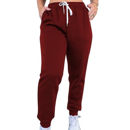 Women's Sport Pants Elastic Wasited Bottoms Yoga Gym Fitness Trousers Sweatpants