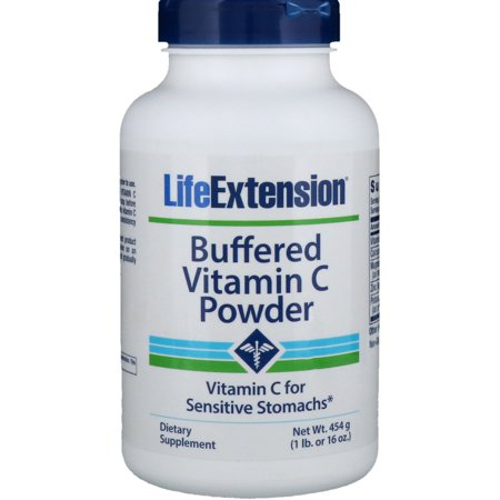 Buffered Vitamin C Life Extension 454.6g Powder (Vitamin C Powder Buffered With Calcium And Magnesium)