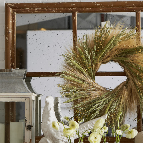 Dried Flowers and Wreaths LLC 20'' Grains Wreath