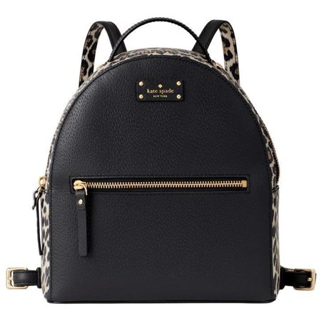 KATE SPADE NEW YORK Grove Street Leopard Sammi Backpack in Black