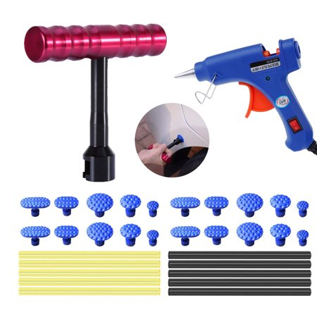 32PCS Auto Body Paintless Dent Removal Tools Kits Dent Puller Hot Glue Gun Set For Car Hail Damage And Door Dings