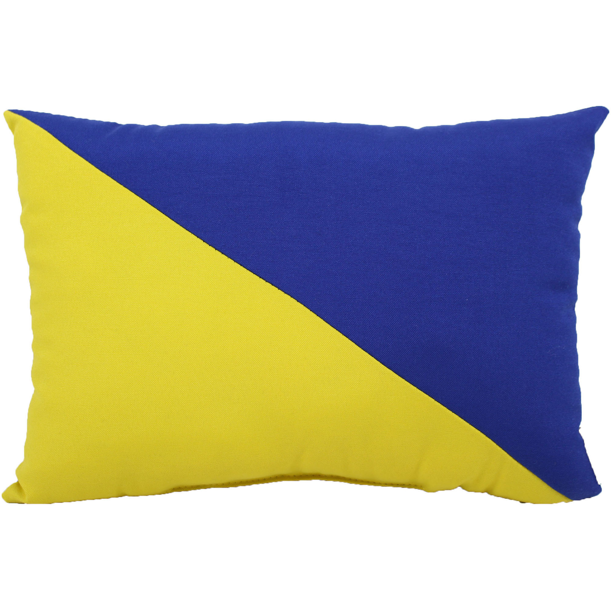 """lava Blue Yellow Indoor Outdoor Pillow, 12"""" x 17"""" by Lava"""