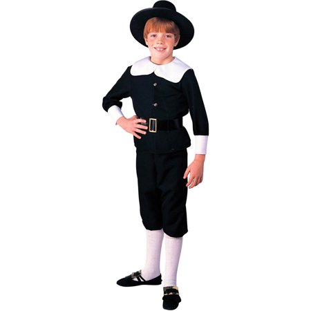 Pilgrim Boy Child Halloween Costume (Dog Pilgrim Costume)