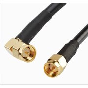 RF coaxial cable SMA male to SMA male right angle RG58 3ft