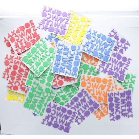 Adhesive Foam Letters 1040 pcs Stickers School Posters Signs Crafts - Glitter Letter Stickers