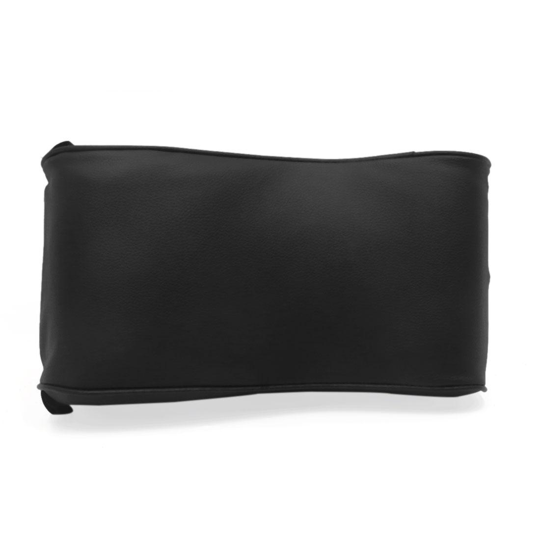 Black Faux Leather Memory Foam Car Auto Center Console Armrest Cushion Pad - image 3 of 4
