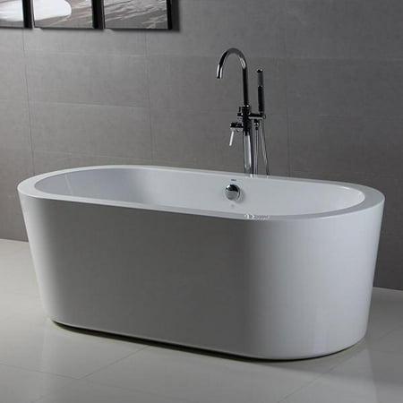 Ferdy 67 Quot Freestanding Bathtub Bathroom Acrylic Soaking