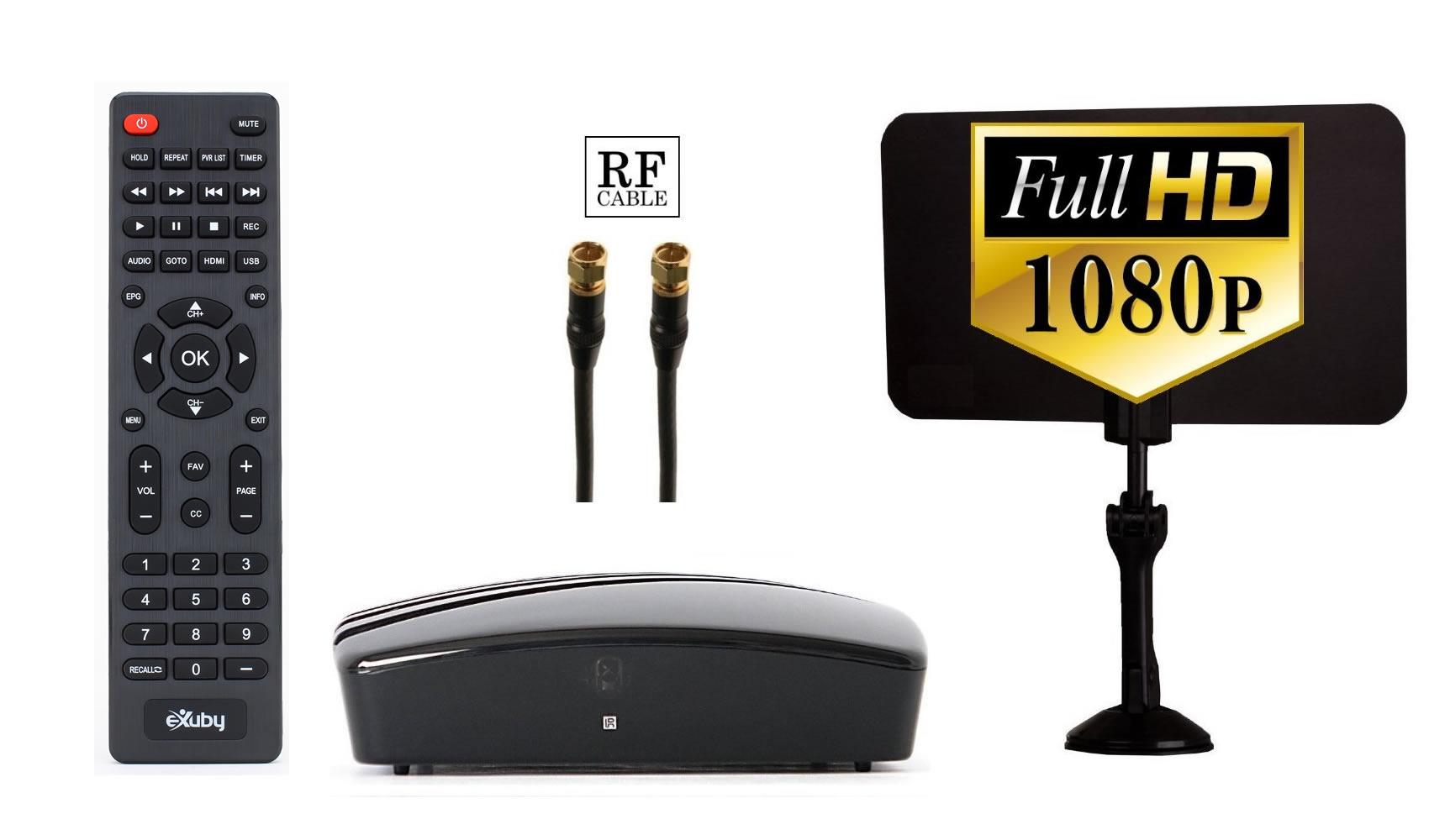 Exuby Digital Converter Box For Tv Digital Antenna Rf