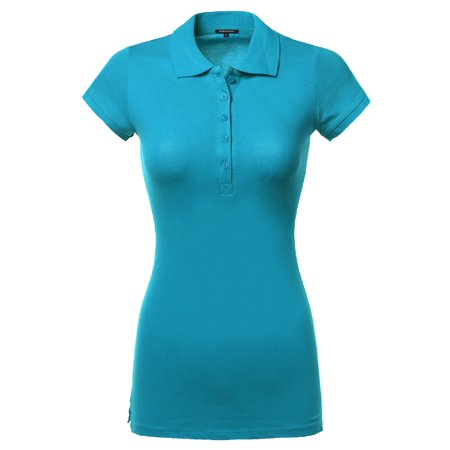 FashionOutfit Women's Basic Polo Shirt in Various Colors
