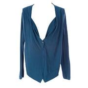 Lunn Women's Facile Long Sleeve Asymmetrical Cardigan 1 (S) Cobalt