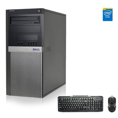 Refurbished - Dell Optiplex Desktop Computer 3.0 GHz Core 2 Duo Tower PC, 4GB, 500GB HDD, Windows 7 x64, USB Mouse & Keyboard