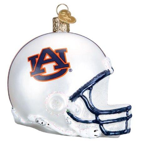 Old World Christmas Auburn University Tigers AU Football Helmet Glass