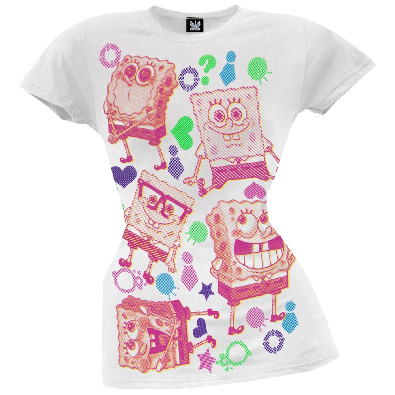 Spongebob Squarepants - Goofy Affection Juniors T-Shirt