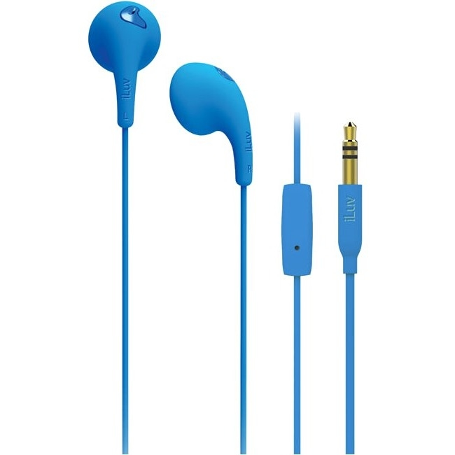 iLuv BBGUMTALKSBK Bubble Gum Talk Earbuds with Microphone Control (Black)