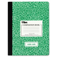 "TOPS Composition Book, Wide Ruled, 100 Pages, 7.5"" x 9.75"" (Single, color may vary)"