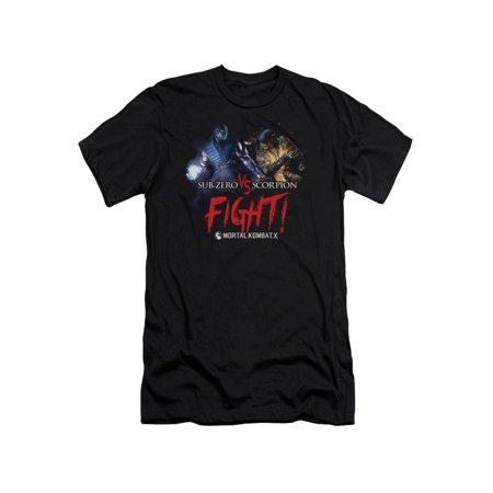 Mortal Kombat X Fighting Video Game Sub-Zero VS Scorpion Adult Slim Fit T-Shirt for $<!---->