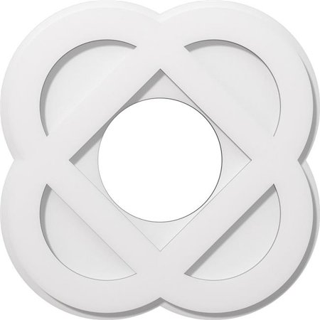 Ekena Millwork CMP18CE-07000 18 in. OD x 7 in. ID Square Charlotte Architectural Grade PVC Contemporary Ceiling Medallion - image 1 de 1