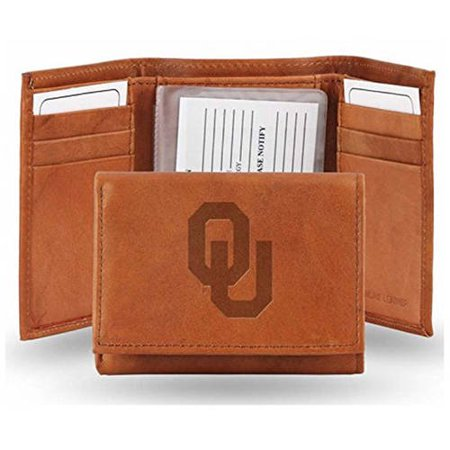 NCAA Oklahoma Embossed Leather Trifold Wallet