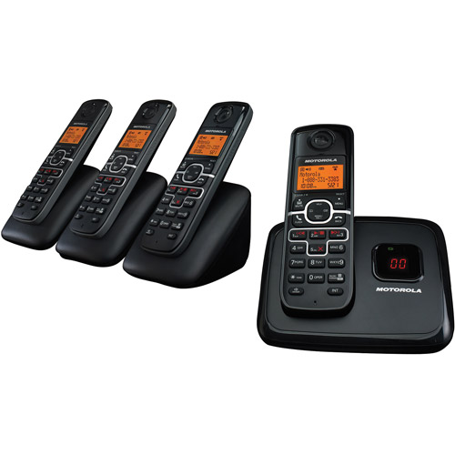 Motorola DECT 6.0 Enhanced Cordless Phone with 4 Handsets and Digital Answering System L704