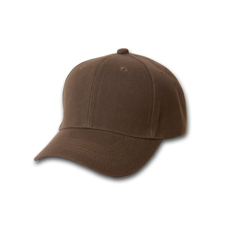 367f174beb8 Fitted Hats - Plain Fitted Curve Bill Hat