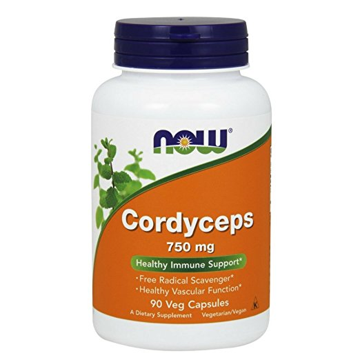 Now Foods - Cordyceps 750 mg 90 Veg Capsules (Pack of 2)