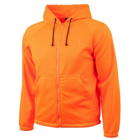 Men's Blaze Orange Jersey Knit Hoodie Large thumbnail