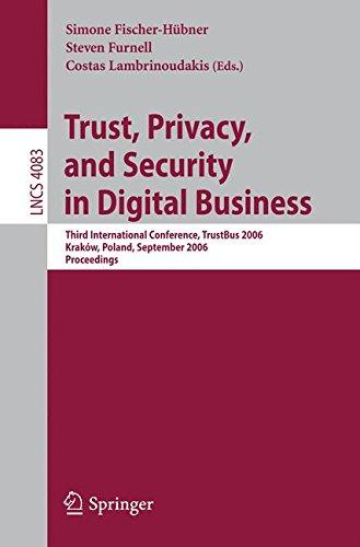 Trust and Privacy in Digital Business by
