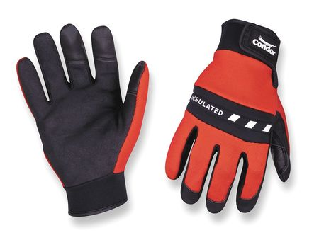 Condor 2XRX9 M Red Black Cold Protection Gloves by Condor