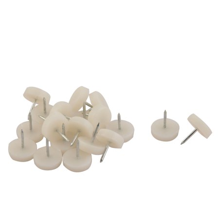 Tremendous Uxcell Home Office Plastic Furniture Desk Chair Feet Protector Glide Nail Beige 20Pcs Pabps2019 Chair Design Images Pabps2019Com