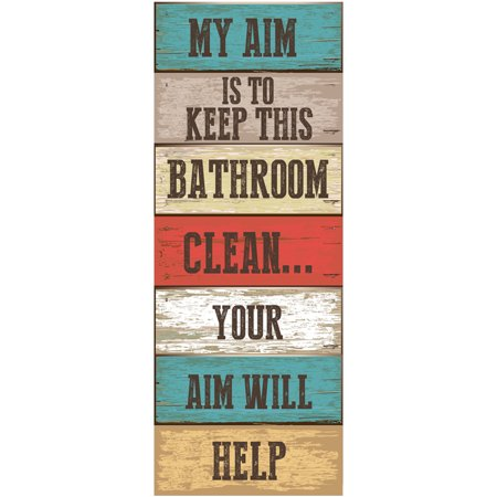 My Aim Is To Keep This Bathroom Clean Metal Sign