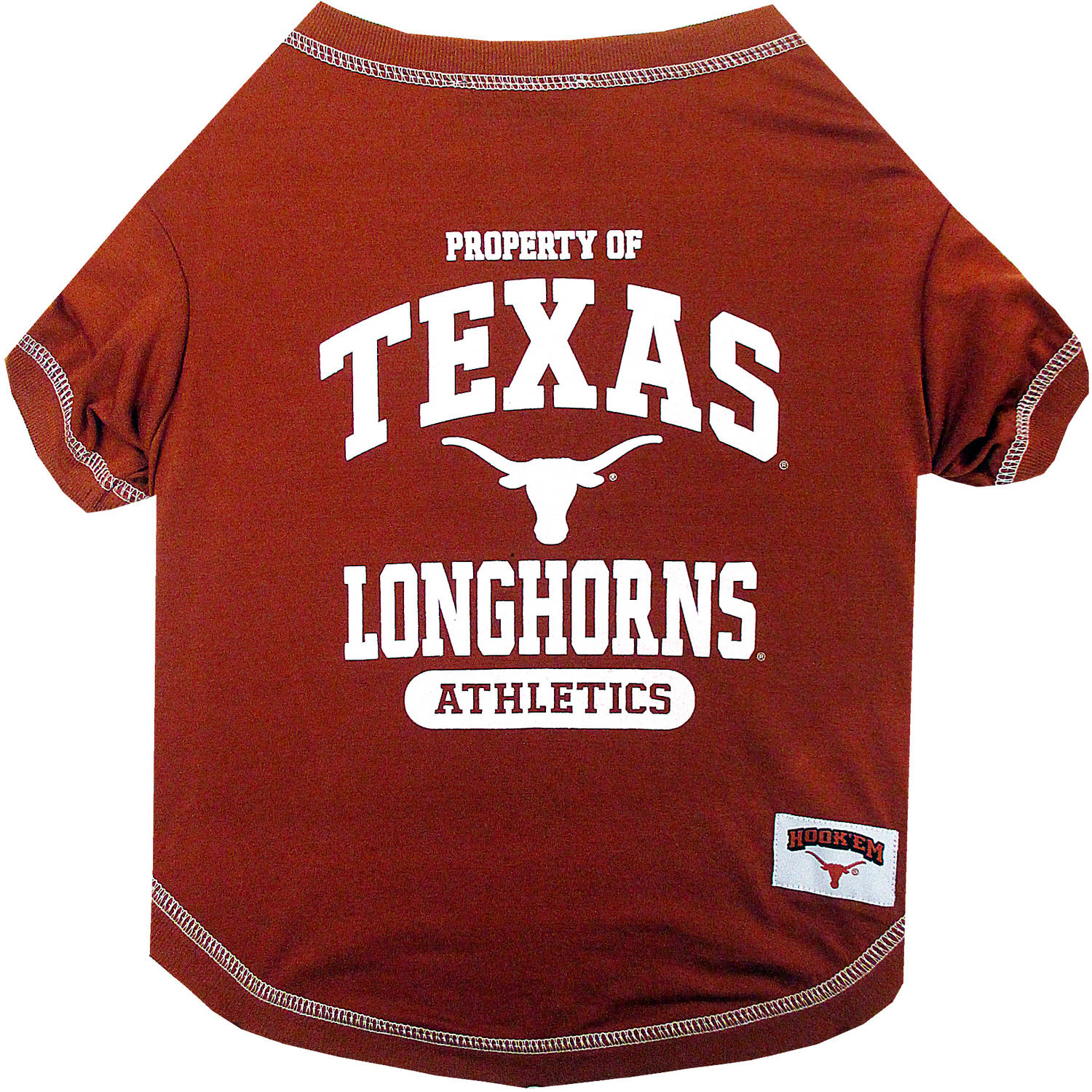 Pets First Collegiate Texas Longhorns Pet T-shirt, Assorted Sizes