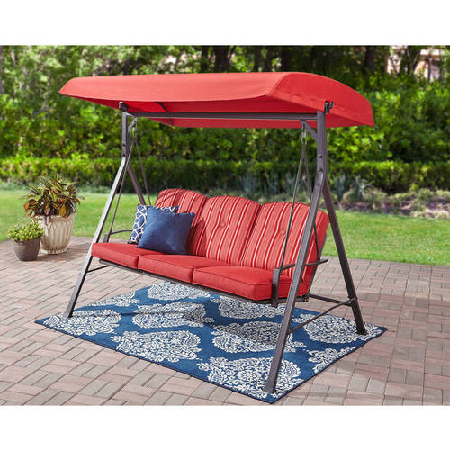 Mainstays Forest Hills 3-Seat Cushion Canopy Porch Swing by Courtyard Creations Inc