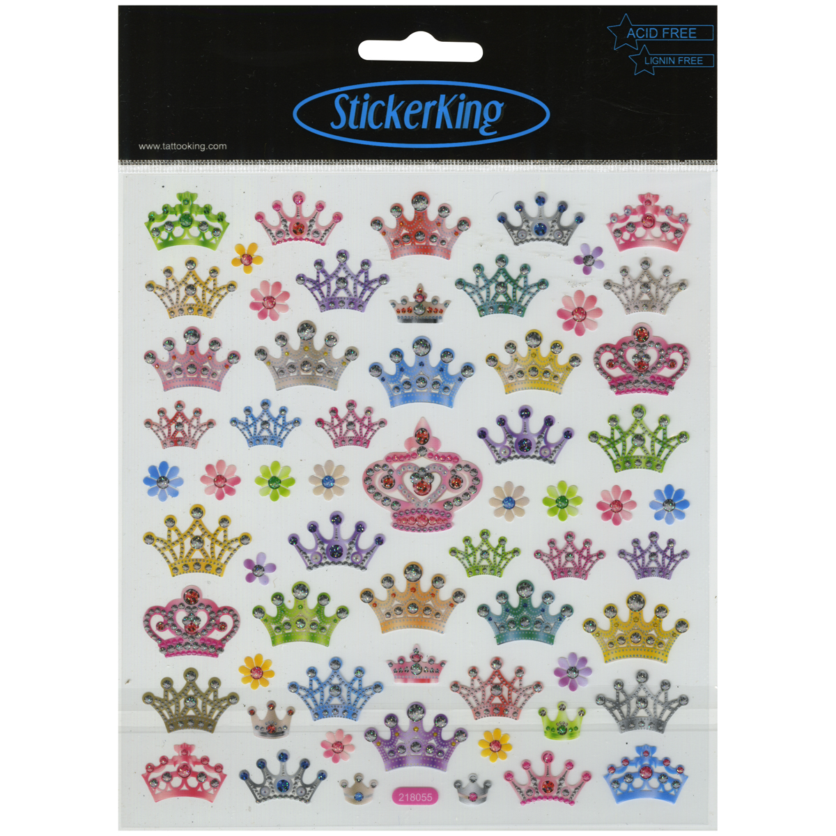 Multicolored Stickers-Bejeweled Crowns