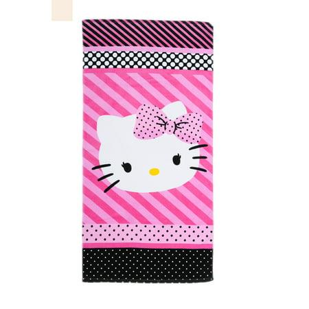 Hello Kitty Dots J'Adore Bath Towel Collection, 2