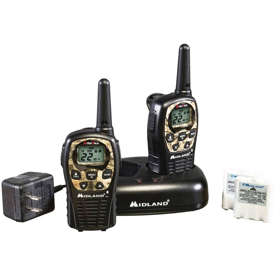 Midland GMRS 2-Way Radio with 22 Channels Value Pack, Black and Camouflage by Midland