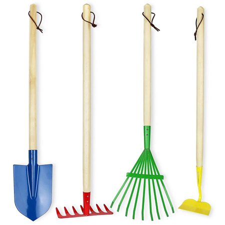 Click n play kids 4 piece big gardening tool set for Gardening tools 94 game