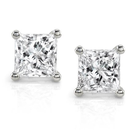 Diamond Stud Earrings 1 Carat (ctw) in Platinum (Certified)