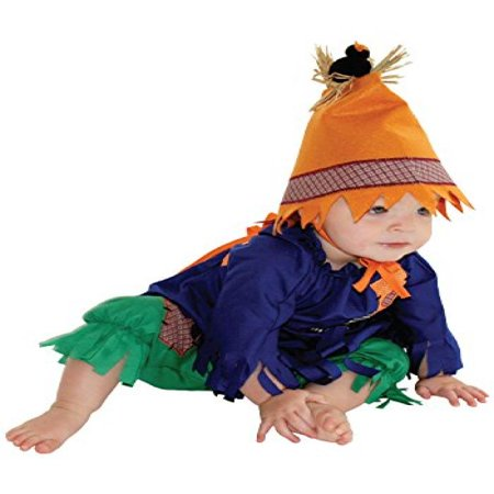 Image of AM PM Kids! Baby's Scarecrow Costume, Blue/Green, One Size
