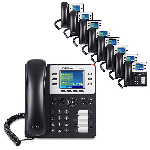 Grandstream GXP2130 (10 Pack) 3 Line Enterprise IP Phone