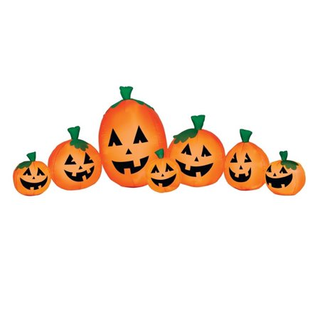 Gemmy 74717 Halloween Inflatable Pumpkin Harvest, Orange, 3' H