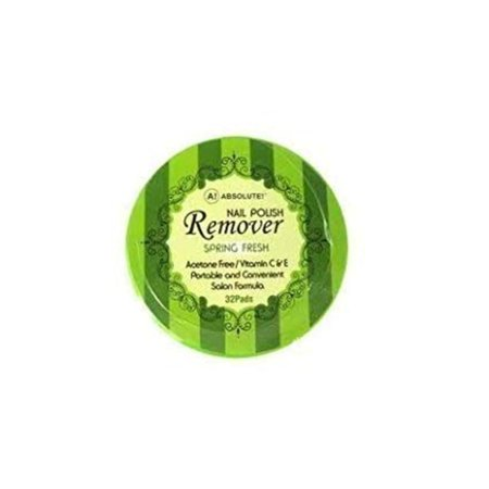 Absolute Nail Polish Remover Pads Spring Fresh Scent by, Acetone Free By  ABSOLUTE NEW YORK,USA