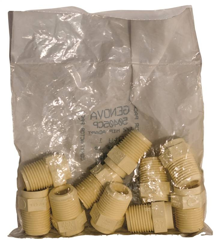 8576191,CPVC FITTINGS,MALE ADAPTER - MIP X SLIP ,CONTRACTOR PACK,,Size In=1/2